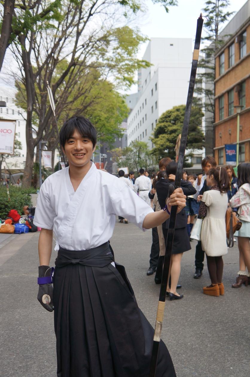 Traditionelles japanisches Bogenschießen