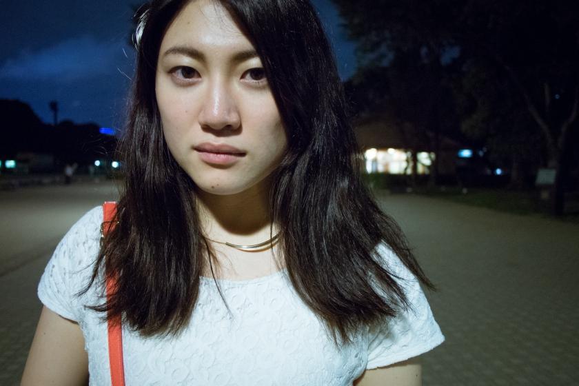 A portrait of my friend Noriko, shot in Ueno park.