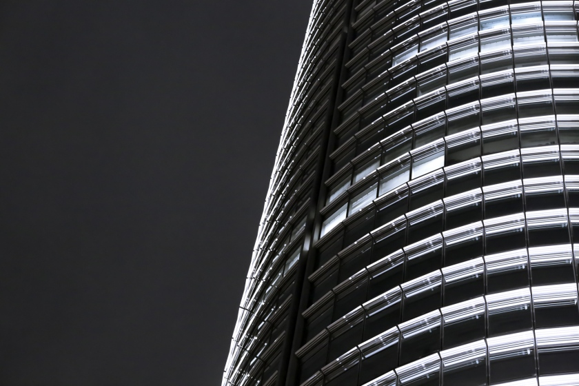 Mori Tower in Roppongi, Tokyo. Canon 5D Mark III, 135mm f/2.