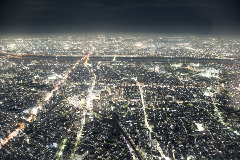 Tokyo at night. Captured from Skytree Tower. Asakusa, Tokyo. Canon 5D Mark III, 24-105mm f/4.